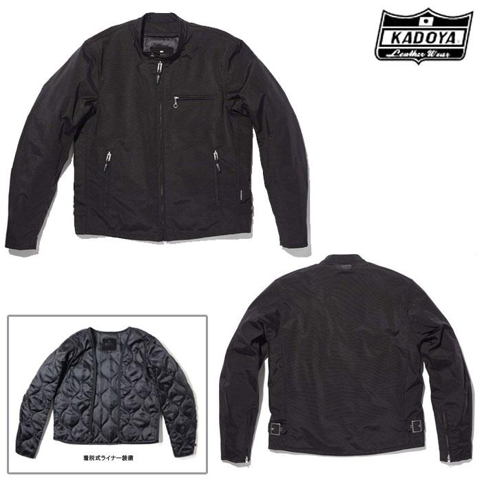 KADOYA 6575 NR-S2 ファブリックジャケット ナイロンジャケット ブラック◆全2色◆