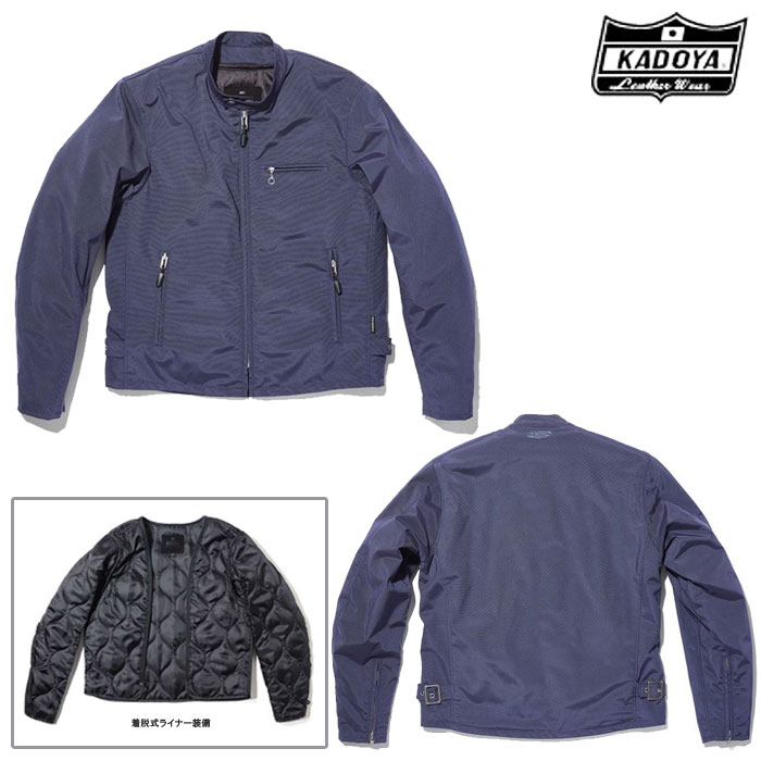 KADOYA 6575 NR-S2 ファブリックジャケット ナイロンジャケット ネイビー◆全2色◆