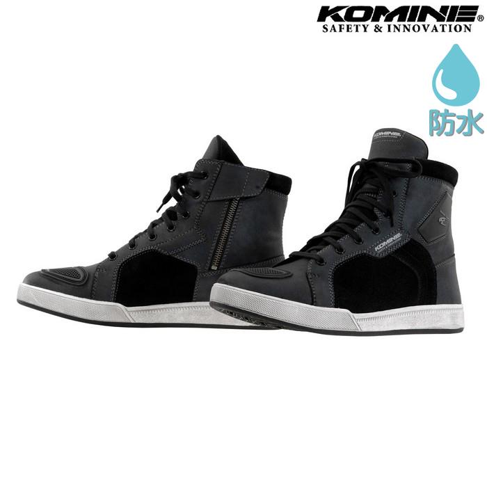 komine BK-091 ウォータープルーフマイクロファイバーライディングスニーカー グラファイトブラック ◆全2色◆
