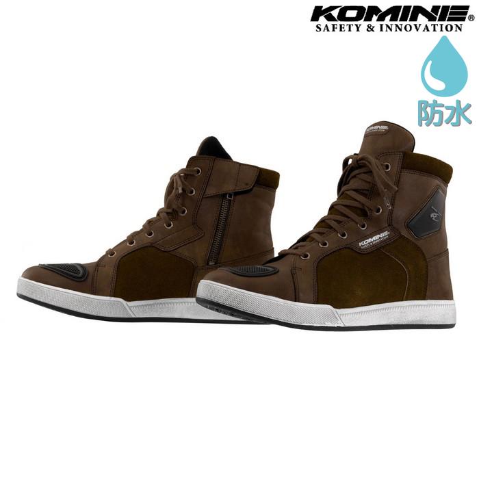 komine BK-091 ウォータープルーフマイクロファイバーライディングスニーカー ブラウン ◆全2色◆