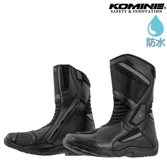 komine BK-092 ウォータープルーフプロテクトツーリングブーツ ブラック