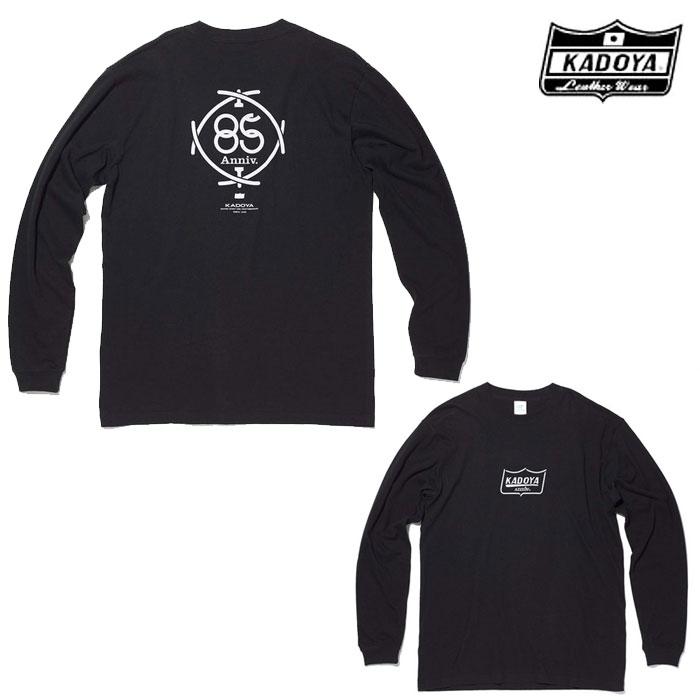 KADOYA 7872 85th/LONG-T ロングTシャツ ブラック◆全2色◆