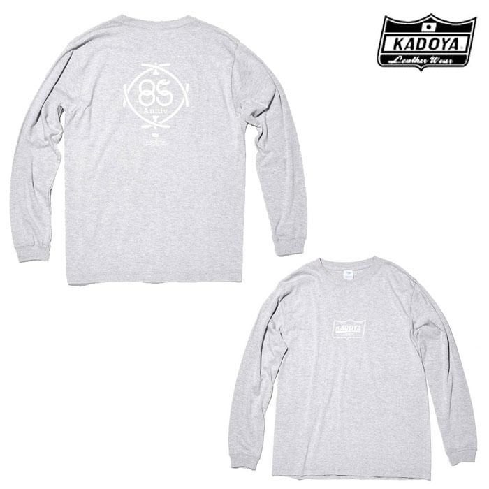 KADOYA 7872 85th/LONG-T ロングTシャツ グレイ◆全2色◆