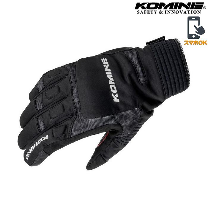 komine GK-801 ウインターグローブ 『カルタゴ』透湿防水 防風 防寒 保温 スマホ対応  ブラックマーブル ◆全9色◆