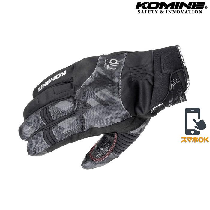 komine GK-818 プロテクトウインターグローブ 透湿防水 防風 防寒 保温 スマホ対応 プレイドブラック ◆全7色◆