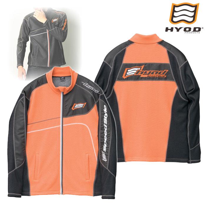 HYOD PRODUCTS STU511S LONG SLEEVE FULL ZIP HEAT T-SHIRTS ORANGE/BLACK◆全4色◆