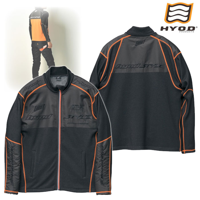 HYOD PRODUCTS STU512S LONG SLEEVE FULL ZIP HEAT T-SHIRTS BLACK/ORANGE STITCH◆全5色◆