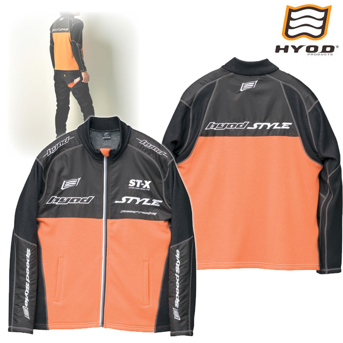 HYOD PRODUCTS STU512S LONG SLEEVE FULL ZIP HEAT T-SHIRTS ORANGE/BLACK◆全5色◆