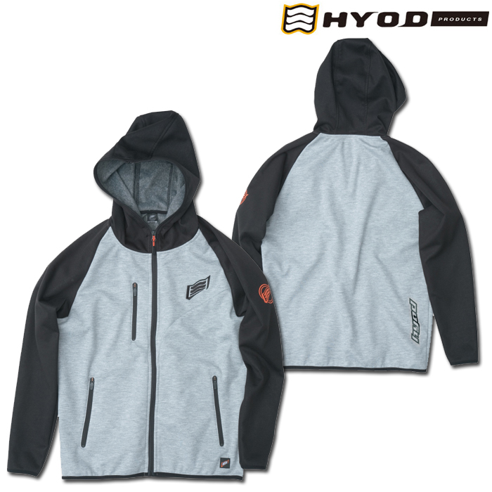 HYOD PRODUCTS STU717N WIND BLOCK HEAT FULL ZIP PARKA BLACK/ASH◆全4色◆