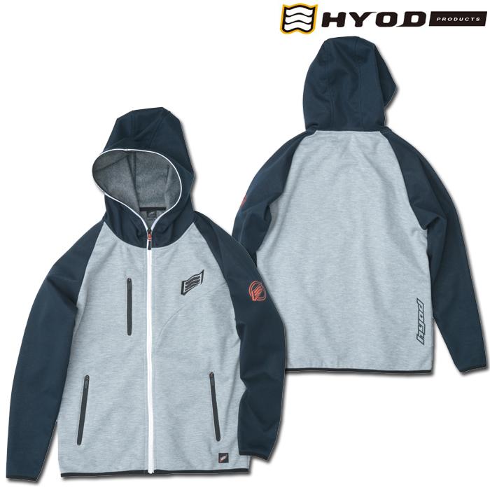 HYOD PRODUCTS STU717N WIND BLOCK HEAT FULL ZIP PARKA NAVY/ASH◆全4色◆