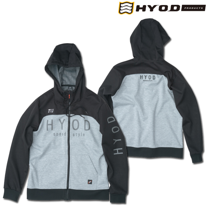 HYOD PRODUCTS STU727 WIND BLOCK HEAT FULL ZIP PARKA BLACK/ASH◆全4色◆