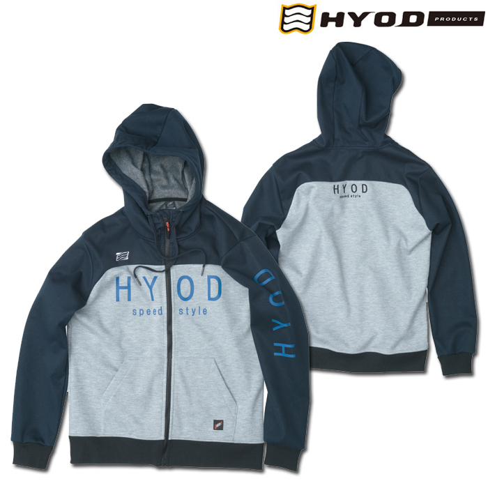 HYOD PRODUCTS STU727 WIND BLOCK HEAT FULL ZIP PARKA NAVY/ASH◆全4色◆