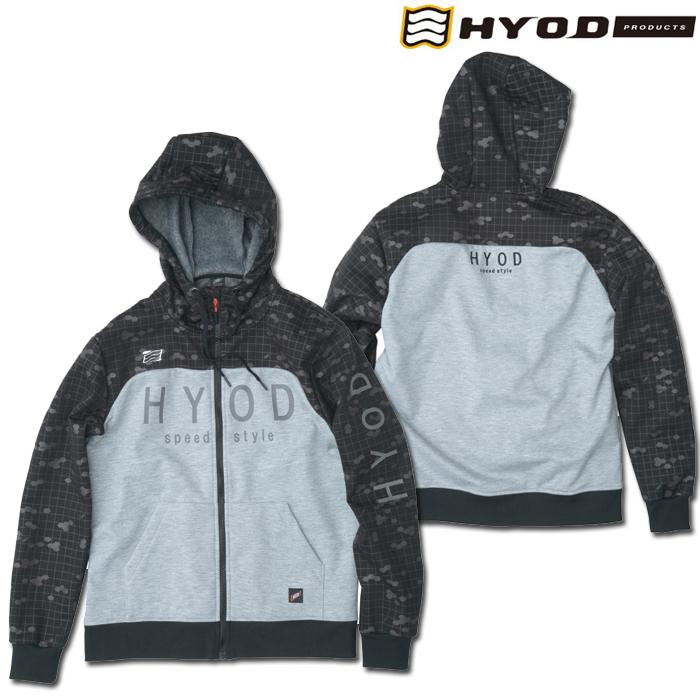 HYOD PRODUCTS STU727 WIND BLOCK HEAT FULL ZIP PARKA BLACK GRAPHIC/ASH◆全4色◆
