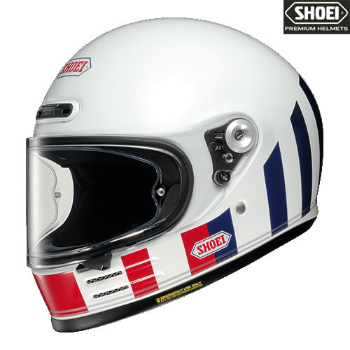 SHOEI ヘルメット Glamster RESURRECTION 【グラムスター リザレクション】フルフェイスヘルメット ホワイト/レッド