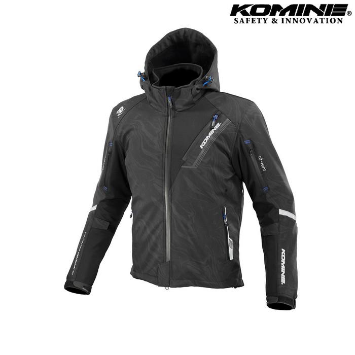 komine JK-579 プロテクトソフトシェルウィンターパーカ IFU 『イフ』 防寒 防風 着脱可能保温インナー付 ブラックマーブル ◆全11色◆