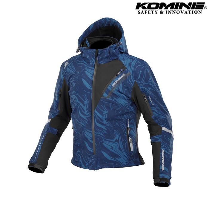 komine JK-579 プロテクトソフトシェルウィンターパーカ IFU 『イフ』 防寒 防風 着脱可能保温インナー付 ネイビーマーブル ◆全11色◆