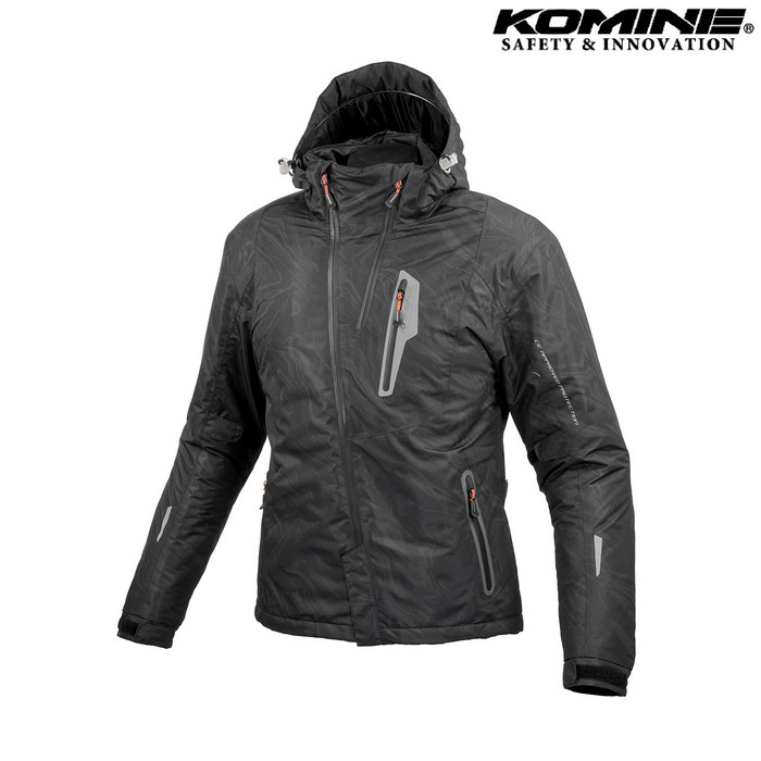 komine JK-589 プロテクトウインターパーカ ジャケット ブラックマーブル ◆全6色◆