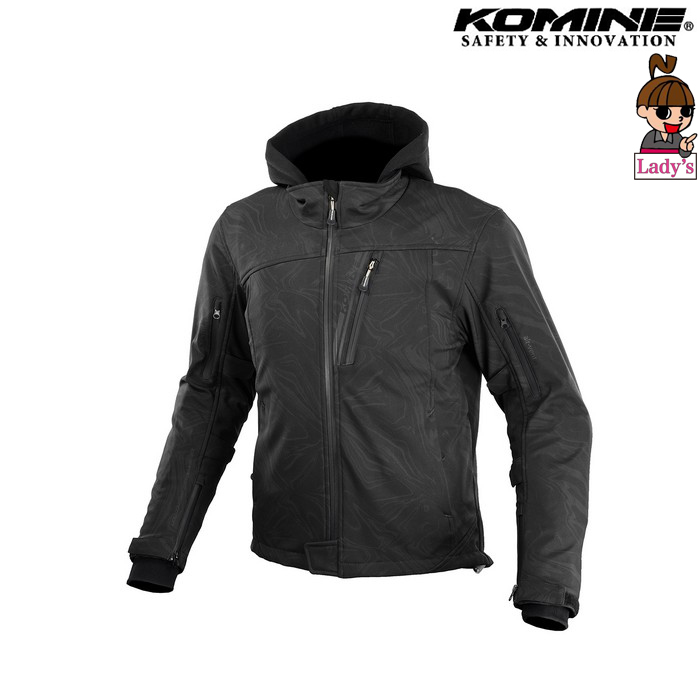 komine (レディース)JK-590 プロテクトソフトシェルウインターパーカ ジャケット  ブラックマーブル ◆全8色◆