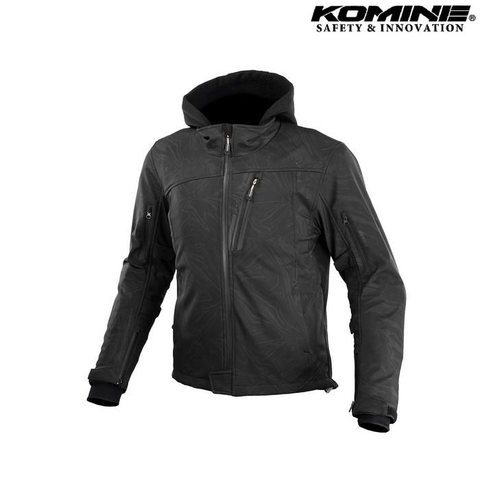 komine JK-590 プロテクトソフトシェルウインターパーカ ジャケット  ブラックマーブル ◆全8色◆