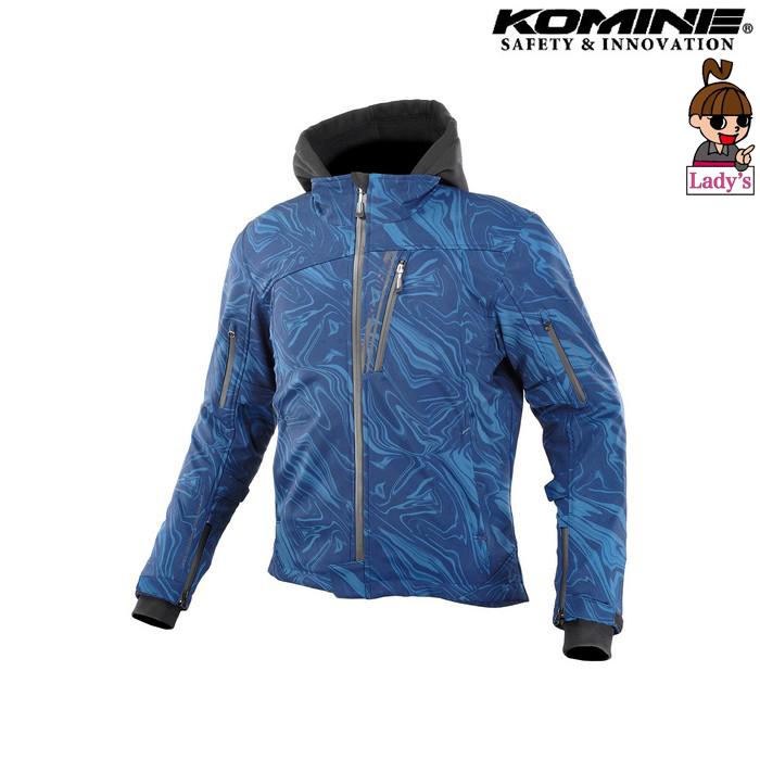 komine (レディース)JK-590 プロテクトソフトシェルウインターパーカ ジャケット  ネイビーマーブル ◆全8色◆