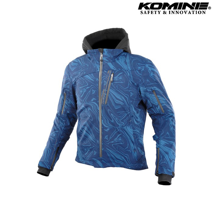komine JK-590 プロテクトソフトシェルウインターパーカ ジャケット  ネイビーマーブル ◆全8色◆