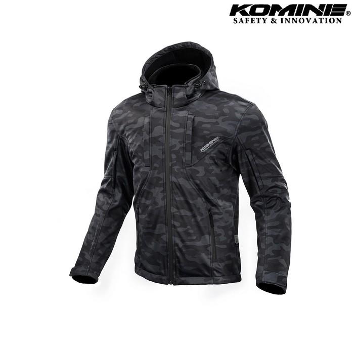 komine 大きいサイズ JK-602 プロテクト ソフトシェルシステムパーカー ジャケット  ネオブラック