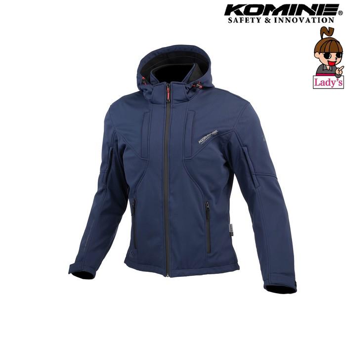 komine レディース JK-602 プロテクト ソフトシェルシステムパーカー ジャケット  ネイビー ◆全4色◆