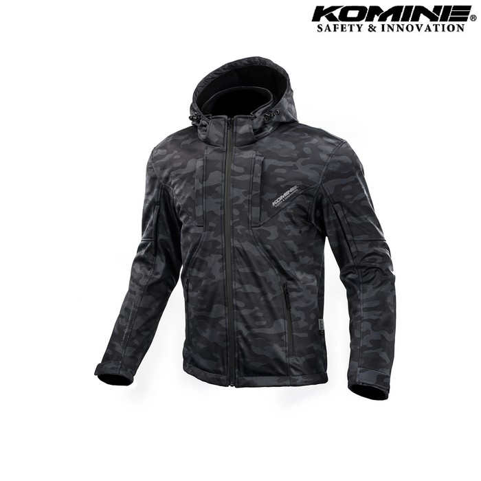 komine JK-602 プロテクト ソフトシェルシステムパーカー ジャケット  ネオブラック ◆全4色◆