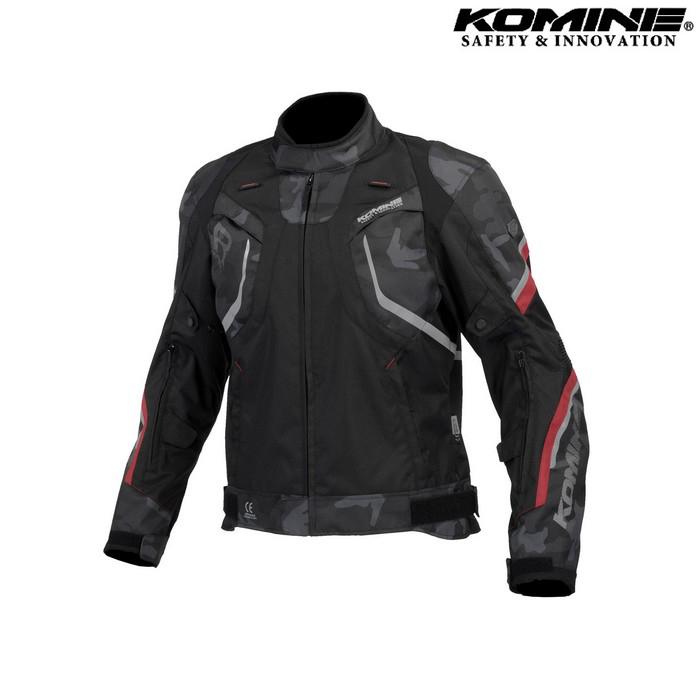 komine JK-606 R-Specシステムジャケット ブラック カモ/レッド ◆全4色◆