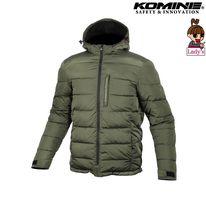 komine レディース JK-612 プロテクトウインターパッディングジャケットオリーブ◆全2色◆