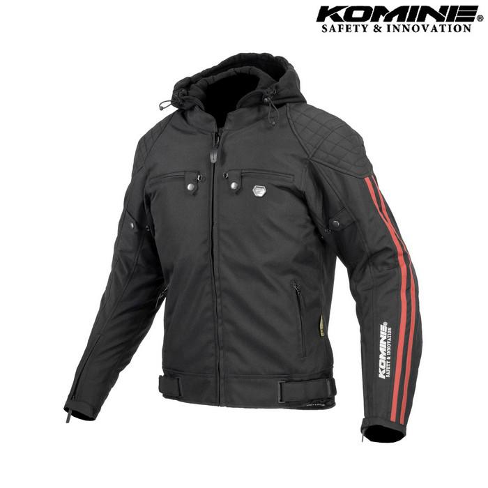 komine 大きいサイズ JK-614 プロテクトウインターパーカ ブラック/レッド ◆全3色◆