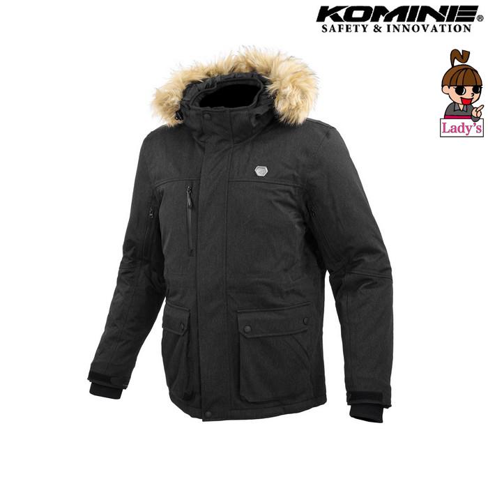 komine (レディース)JK-615 プロテクトウォータープルーフウインターコート ブラック ◆全2色◆
