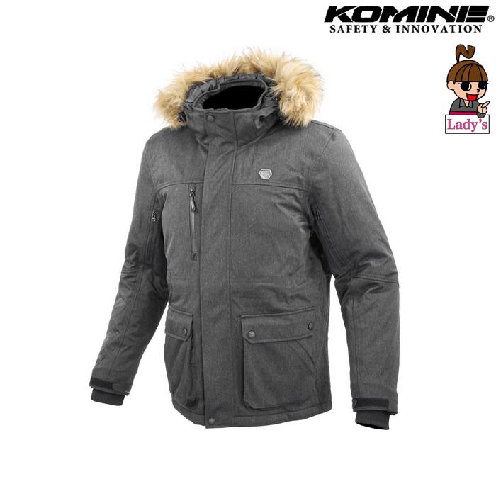 komine (レディース)JK-615 プロテクトウォータープルーフウインターコート グレー ◆全2色◆