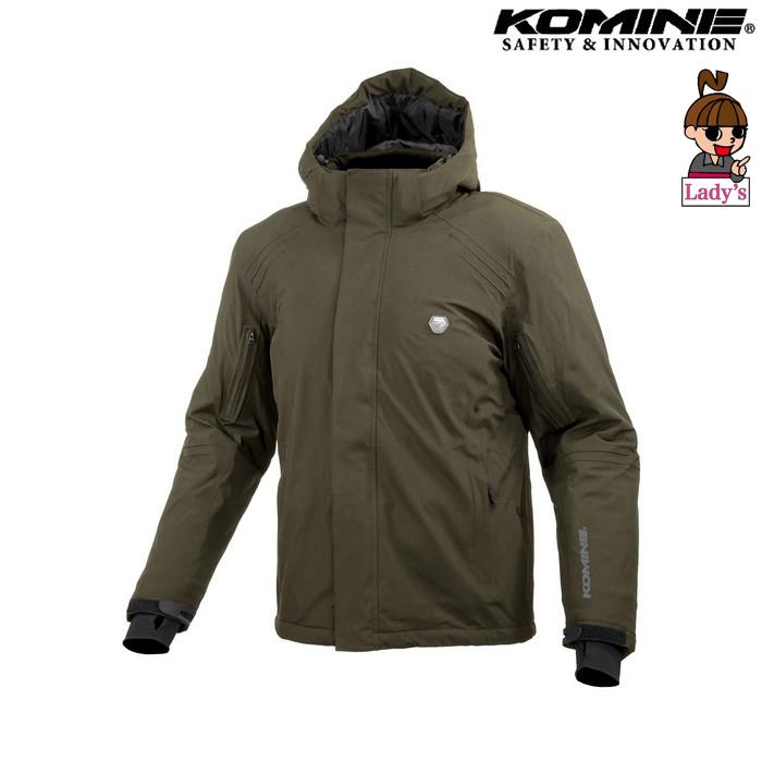 komine (レディース)JK-616 プロテクトウォータープルーフストレッチャブルウインターパーカ オリーブ ◆全3色◆