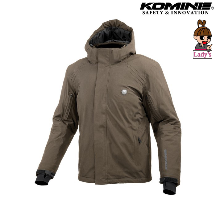 komine (レディース)JK-616 プロテクトウォータープルーフストレッチャブルウインターパーカ ブラウン ◆全3色◆