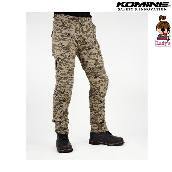 komine (レディース)PK-744 プロテクトライディングコットンカーゴパンツ デジタルカモ ◆全5色◆