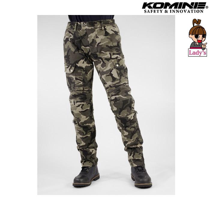 komine (レディース) PK-744 プロテクトライディングコットンカーゴパンツ カモ ◆全5色◆