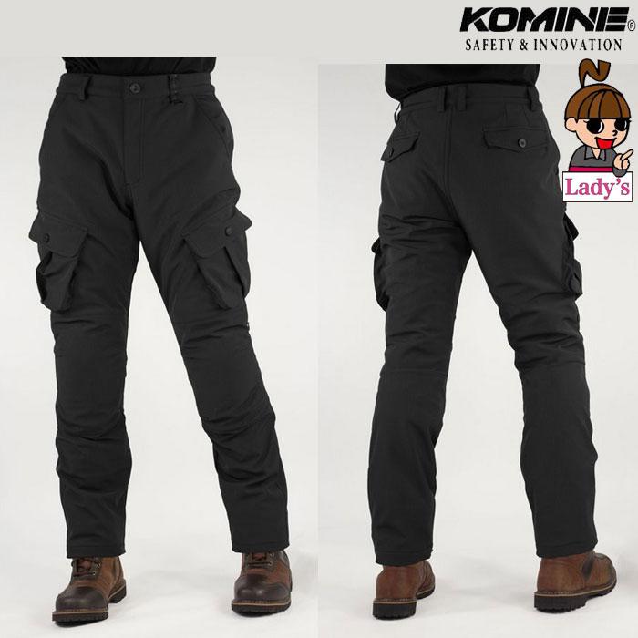 komine レディース PK-926 プロテクトウインドプルーフウォームカーゴパンツ Black◆全2色◆