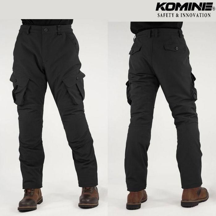 komine 大きいサイズ PK-926 プロテクトウインドプルーフウォームカーゴパンツ Black◆全2色◆