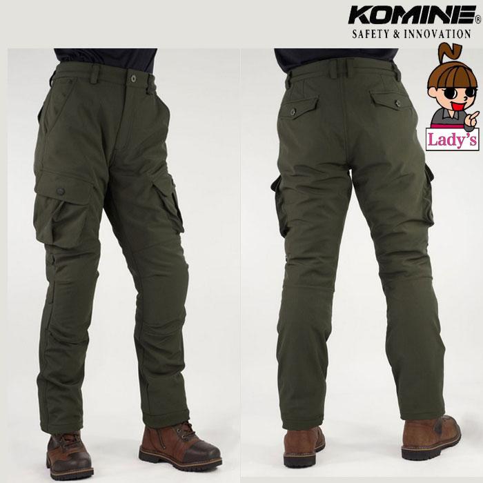 komine レディース PK-926 プロテクトウインドプルーフウォームカーゴパンツ Olive◆全2色◆