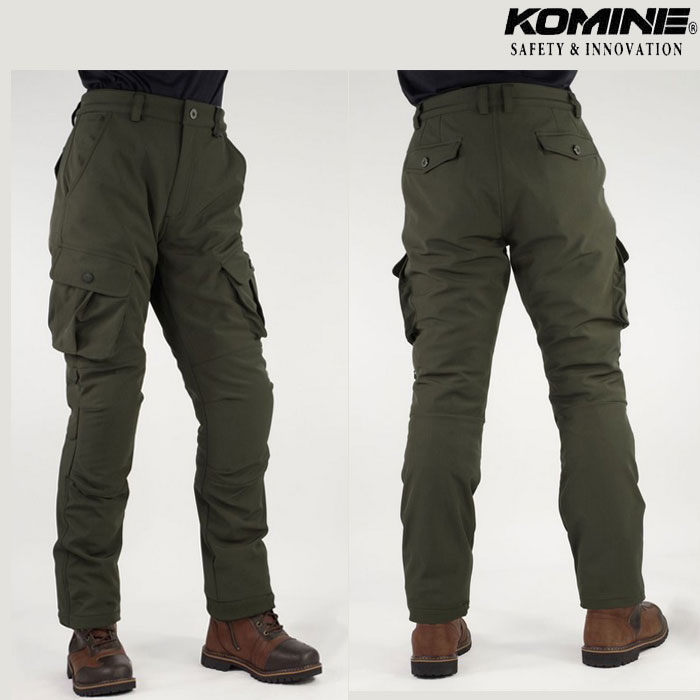 komine 大きいサイズ PK-926 プロテクトウインドプルーフウォームカーゴパンツ Olive◆全2色◆
