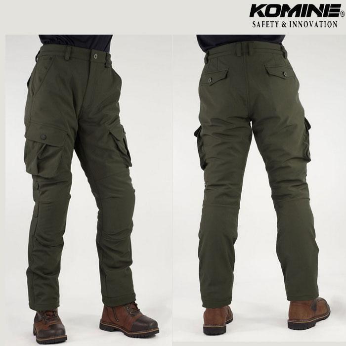 komine (大きいサイズ)PK-926 プロテクトウインドプルーフウォームカーゴパンツ Olive◆全2色◆