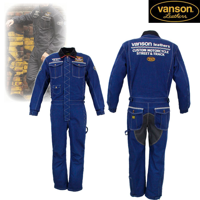 VANSON VS20302W デニムカバーオール INDIGO◆全2色◆