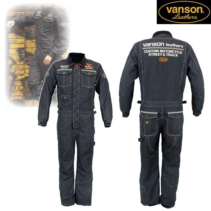 VANSON VS20302W デニムカバーオール BLACK/WABASH◆全2色◆