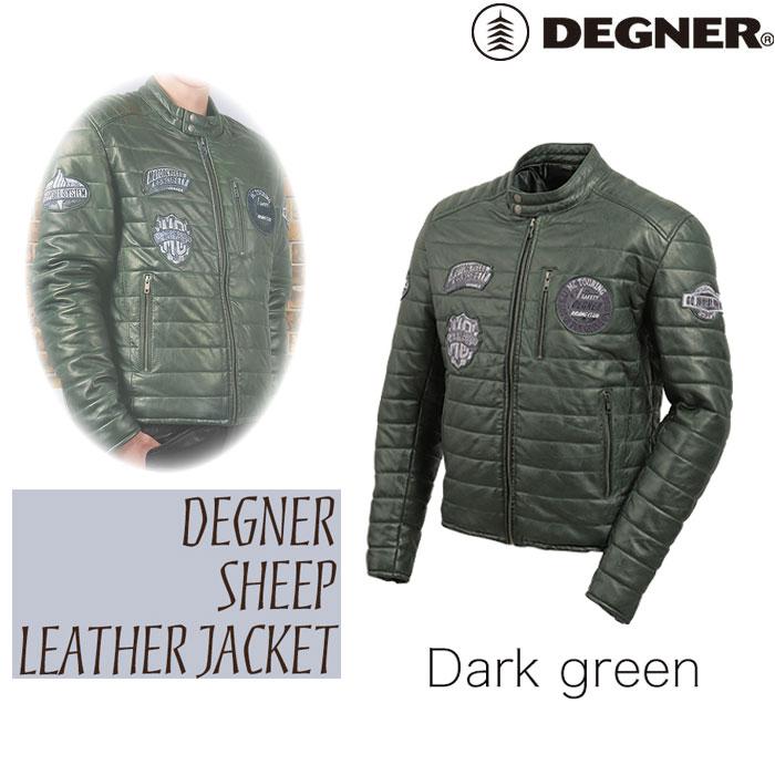 DEGNER 20WJ-4 ワックスレザーキルティングジャケット ダークグリーン◆全2色◆