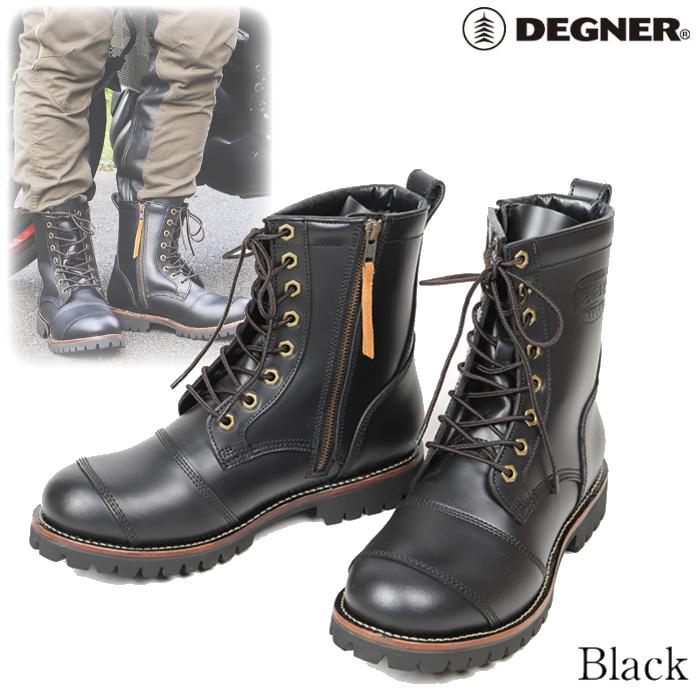 HS-B12 シフトガード付レザーZIPブーツ/LEATHER ZIP BOOTS WITH SHIFT GUARD ブラック◆全2色◆