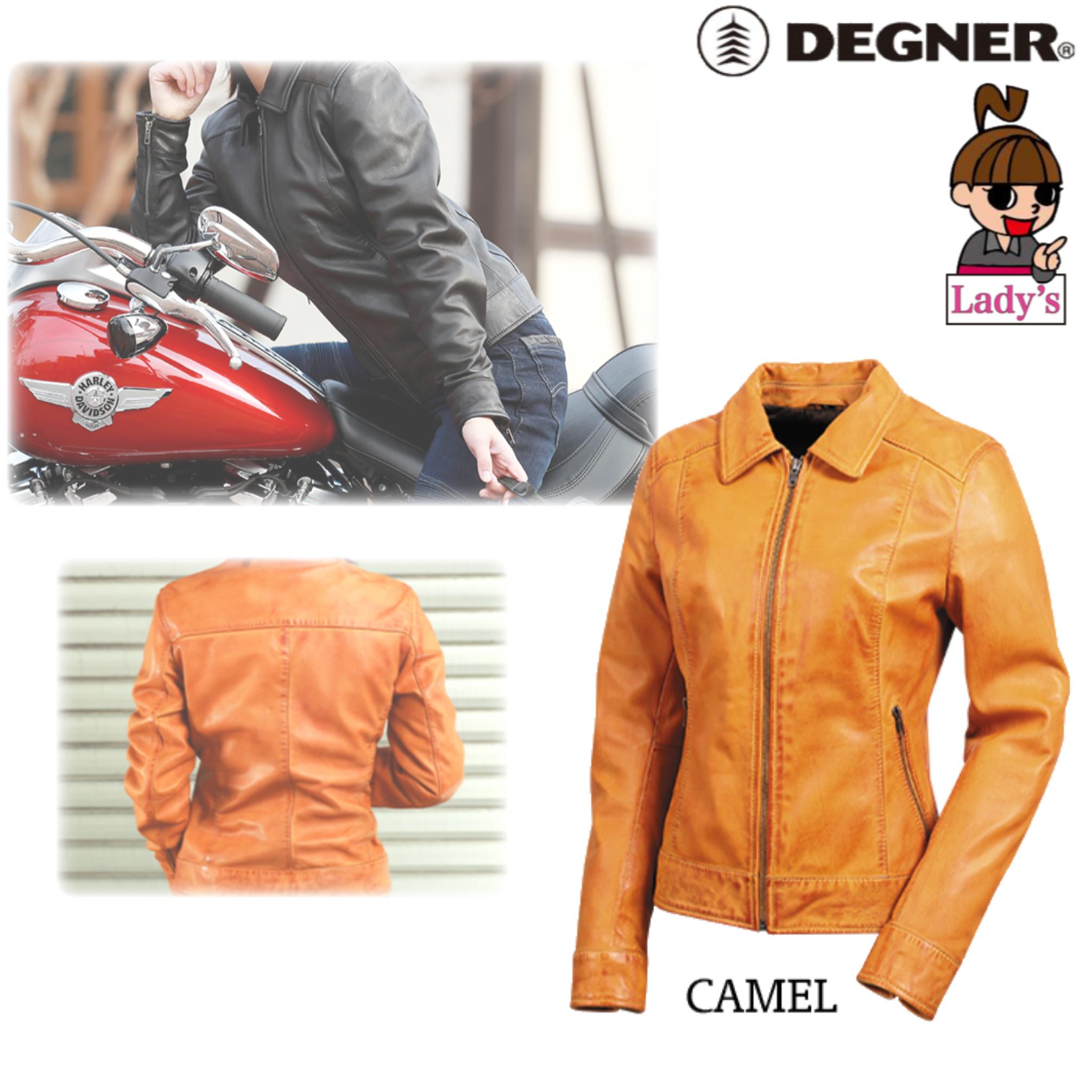 DEGNER (レディース)FR20SJ-11 レザージャケット キャメル◆全2色◆