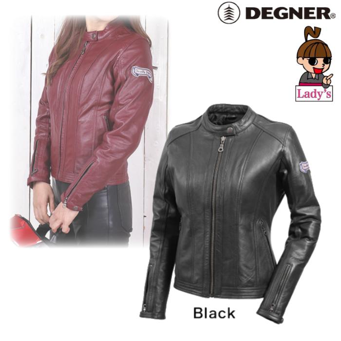 DEGNER (レディース)FR20WJ-13 シングルライダースレディースレザージャケット ブラック◆全2色◆