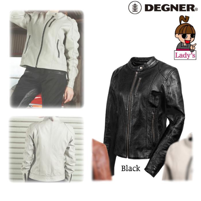 DEGNER (レディース)FR20SJ-9 レザージャケット ブラック◆全3色◆