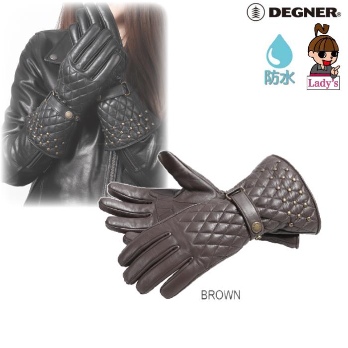 DEGNER (レディース)FRWG-40 レザーグローブ ブラウン◆全2色◆